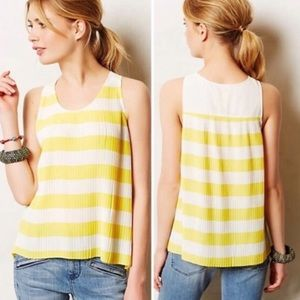 Anthropologie Maeve micro pleat blouse size 12